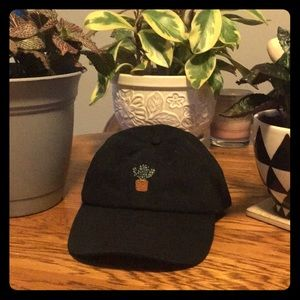 Embroidered cactus hat